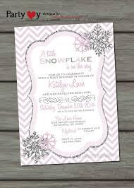 Snowflake Baby Shower Invitations Snowflake Baby Shower Invitation Winter Baby Shower Invitation
