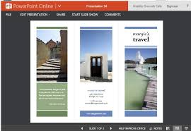 Tri Fold Powerpoint Template Travel Brochure Maker Templates For