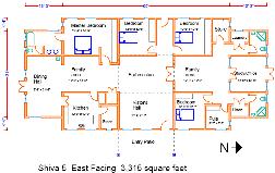 Shiva Series  Pre Designed Vastu HomesShiva East Plan