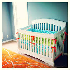 orange nursery bedding items similar to nursery bedding set aqua blue orange lime green per pad