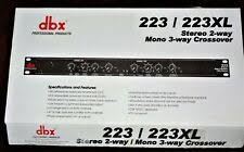 ~L@@K~ DBX <b>223XL</b> Professional Audio Stereo 2-Way/Mono 3 ...