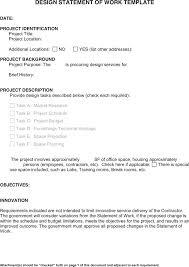 design statement of work design statement template arcgerontology info