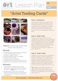 Elementary Art Lesson Plans Artist Trading Cards Free Lesson Plan Download The Art Of