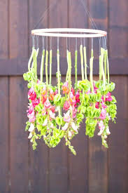 awesome spring home crafts to make hanging flower chandelier decorations how paper decor