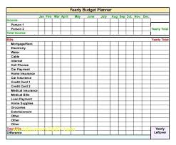 Year Budget Spreadsheet Excel Yearly Budget Template Business Home Personal Household
