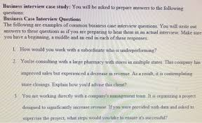 Interview Question Examples Solved Business Interview Case Study You Will Be Asked T