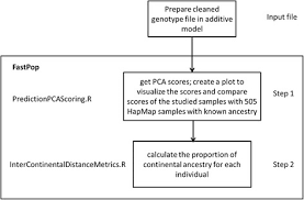 Ancestry Diagram Flow Chart Of Intercontinental Ancestry Analysis Using Fastpop