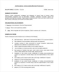 Job Description Of Electrical Instrumentation Electrical