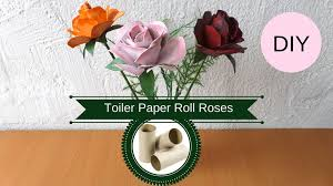 Recycled Flower Paper Diy Toilet Paper Roll Roses How To Make A Rose From A