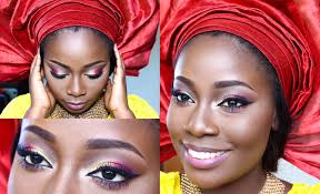 today s post is a nigerian party guest look that features makeup and gele tutorial it