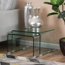 small rectangle glass coffee table set