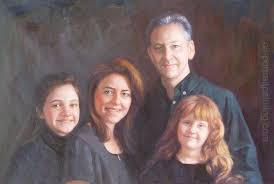 group portrait painting family portrait painting