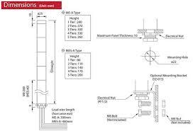 patlite signal tower wiring diagram wiring diagram user patlite wiring diagram wiring diagram centre mes 302a ryg patlite mes a 25mm led short signal