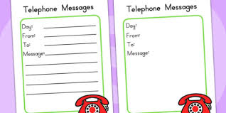 Telephone Message Minibeasts Investigation Telephone Message Pad Role Play