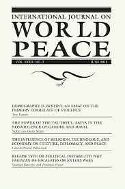international journal on world peace page of  introduction to 2015