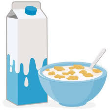 bowl of cereal clipart. Interesting Clipart Vector Illustration Of A Bowl Corn Flakes Cereal And Carton Milk  Illustration And Bowl Of Cereal Clipart
