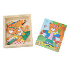 Details about SAFE Wooden Jigsaw Puzzle Set Baby Educational Toy Bear for Toddler 2-4 Year Old