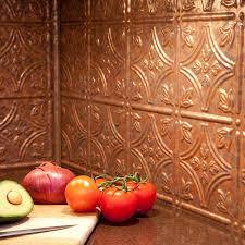Copper Backsplash For Kitchen Backsplash Kit Traditional 1 In Cracked Copper