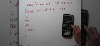how to evaluate factorials with a ti 83 calculator math wonderhowto