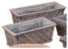 basket weave box cast stone outdoor