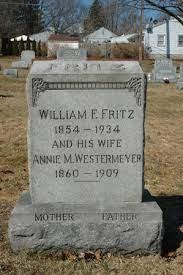 Annie M. Westermeyer Fritz (1860-1909) - Find A Grave Memorial