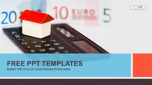 Free Money Ppt Templates House On Calculator And Money Powerpoint Templates