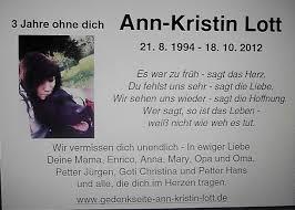 365 Tage Ann Kristin Lott Gedenkseite Trauer