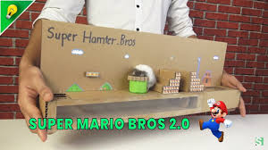 Super Mario Bros out of Cardboad Version 2 - Supper Hamter Bros - [No.5]  Amazing Game from Cardboard