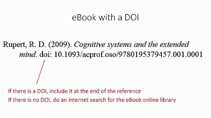 Referencing Ebooks Using Apa