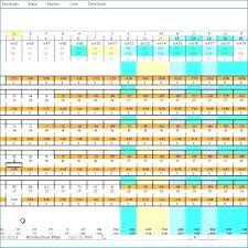 Production Calendar Template Quality Scheduling Excel Solver