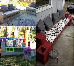 concrete block furniture. unique block cinder block furniture backyard diy bench in the garden  creative ideas for your patio and concrete