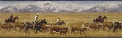 western cowboy wallpaper borders