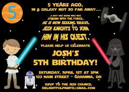 Star Wars Scroll Inspired Birthday Invitation Many Colors