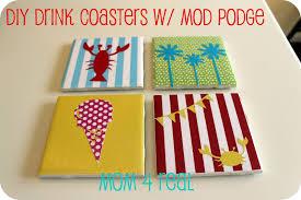 diy drink coasters w mod podge