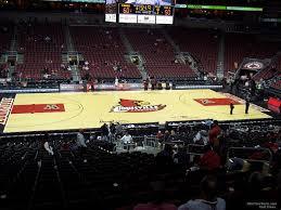 Yum Center Seating Chart Louisville Basketball Kfc Yum Center Section 107 Louisville Basketball