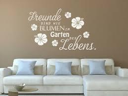 Wandtattoo Sprüche Freunde Sind Wie Blumen Im Garten Nr 1 Wand