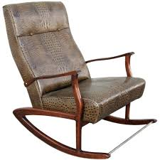 rocking chair leather rocking chair in crocodile embossed leather for rocking chair in crocodile embossed leather