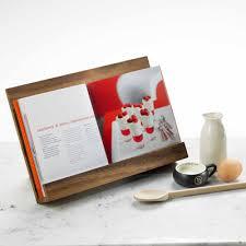 acacia recipe book holder