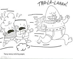 free printable fancy nancy coloring pages captain underpants luxury of