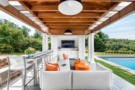 Pool house furniture Enclosed Pool Armonk Pool House Home Stratosphere Armonk Pool House Alisberg Parker