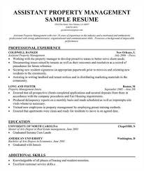 Assistant Property Manager Resume Objective Professional User