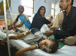 Ребёнок, заражённый малярией