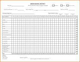Employees Attendance Sheet Template Blank Attendance Sheet Template Leon Lohenergy Co