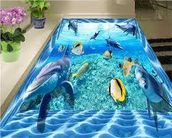 Kopen Beibehang Geavanceerde Indoor Floor Onderwater Wereld 3d