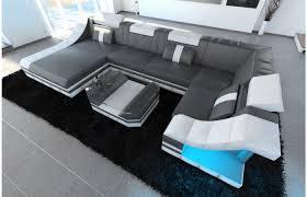 Moderne Design Wohnlandschaft Turino U Form Aus Leder Mit