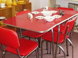 red retro chairs. Red Vintage Kitchen Chairs Retro I