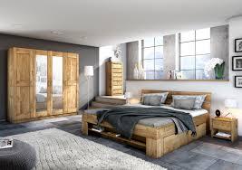 Elfo Kleiderschrank Toni 4s Wildeiche Teilmassiv 4türiger Schrank 2 Mitteltüren Mit Spiegel Schlafzimmerschrank Mit 6 Einlegeböden 1 Hutboden