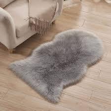 60 100 Cm Schaffell Lammfell Teppich Pastell Schwarzrosa Grau