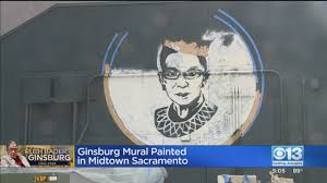 Welcome your new baby with a nursery wall mural or nursery wallpaper. Ruth Bader Ginsburg Mural Painted In Midtown Sacramento