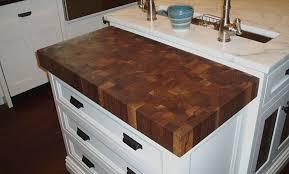 image of custom butcher block countertop